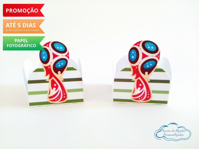 Nuvem de algodão personalizados - Forminha Futebol Copa do mundo
