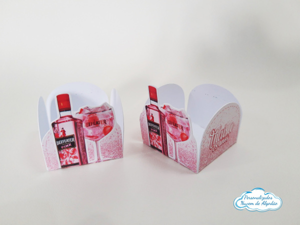 Forminha Gin Rosa-Forminha Gin Rosa Fazemos em qualquer tema. Envie nome e idade para personalização.  - Produto