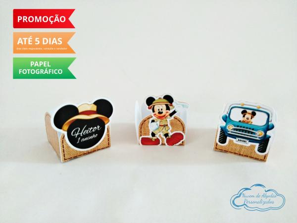 Forminha Mickey Safari Aventura-Forminha Mickey Safari Aventura  Fazemos em qualquer tema. Envie nome e idade para personalizaçã
