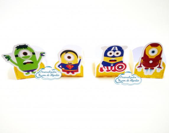 Forminha Minions Heróis-Forminha Minions Heróis Fazemos em qualquer tema. Envie nome e idade para personalização.  -
