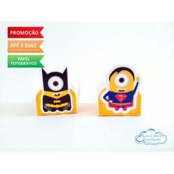 Forminha Minions Heróis Batman e Superman