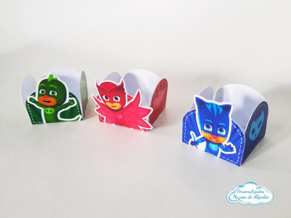 Forminha Pj Masks-Forminha Pj Masks Fazemos em qualquer tema. Envie nome e idade para personalização.  - Produto