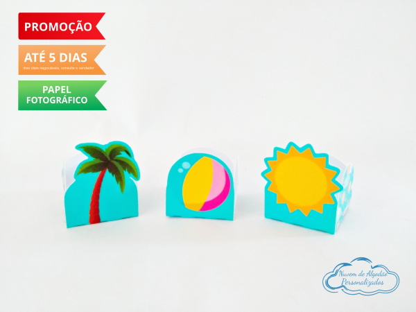 Forminha Pool Party Bola, Sol e Coqueiro-Forminha Pool Party Bola, Sol e Coqueiro Fazemos em qualquer tema. Envie nome e idade para persona