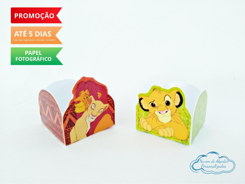 Nuvem de algodão personalizados - Forminha Rei Leão Simba