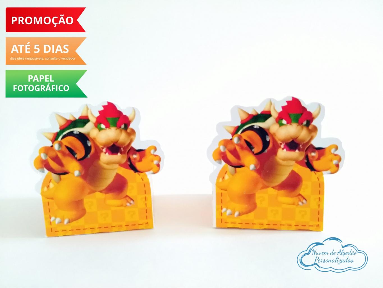 Nuvem de algodão personalizados - Forminha Super Mario Bowser