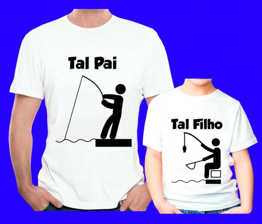 Kit 2 Camisetas  Tal Pai Tal Filho  Branca-Kit 2 Camisetas  Tal Pai Tal Filho  Branca Descrição Um produto especial para um cliente especia