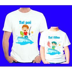 Kit 2 Camisetas  Tal Pai Tal Filho  Personalizada