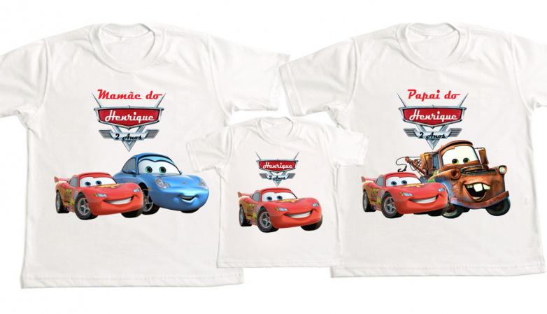 Kit 3 Camisetas carros Disney  Personalizada-Kit 3 Camisetas carros Disney  Personalizada Descrição Um produto especial para um cliente espec