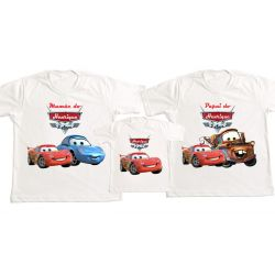 Kit 3 Camisetas carros Disney  Personalizada