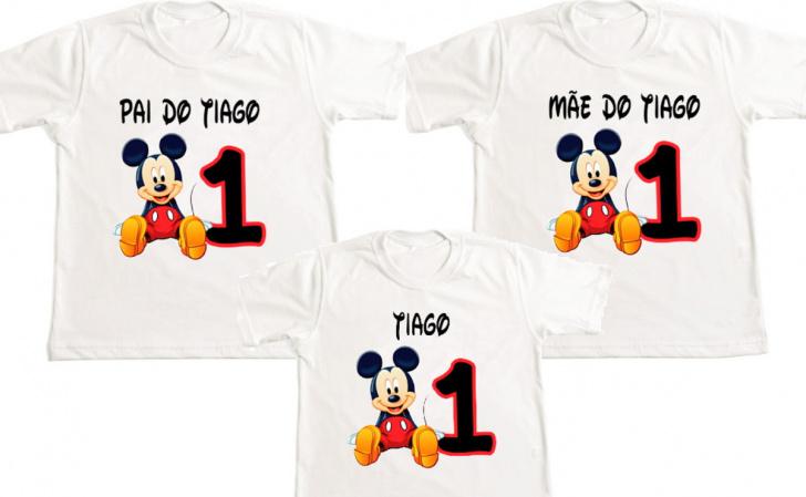 Kit 3 Camisetas Mickey Personalizada-Kit 3 Camisetas Mickey Personalizada Descrição Um produto especial para um cliente especial. Se