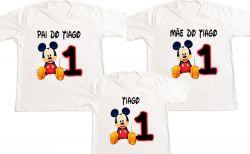 Kit 3 Camisetas Mickey Personalizada