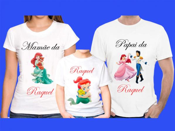 Kit 3 Camisetas Princesas  Personalizada-Kit 3 Camisetas Princesas  Personalizada Descrição Um produto especial para um cliente especial.