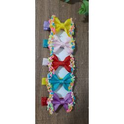 kit 5 hair clips confete