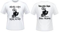 Kit com 2 Camisetas empinar é arte