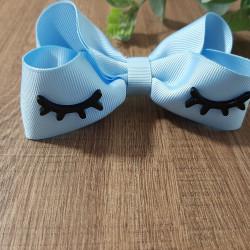 Laço boutique cílios azul bebê