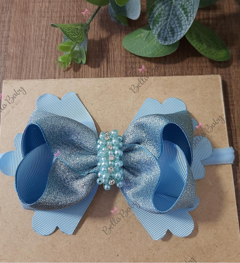 Bella Baby Laços de fita - Laço boutique glitter na faixinha