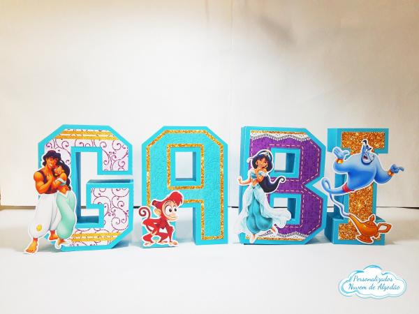 Letra 3d Aladdin - Jasmine-Letra 3d Aladdin - Jasmine  Atenção: Valor referente a unidade da letra!  Fazemos em qualquer