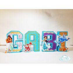 Letra 3d Aladdin - Jasmine