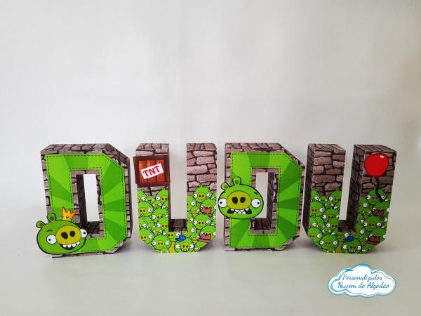 Letra 3d Angry Birds - Bad Piggies-Letra 3d Angry Birds - Bad Piggies Atenção: Valor referente a unidade da letra!  Fazemos em qua