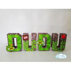 Letra 3d Angry Birds - Bad Piggies