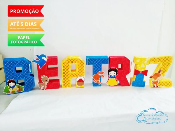 Letra 3d Branca de neve cute-Letra 3d Branca de neve cute  Atenção: Valor referente a unidade da letra!  Fazemos em qualque