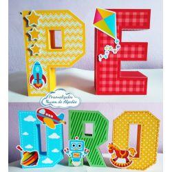 Letra 3d Brinquedos