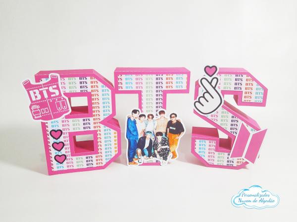 Letra 3d BTS-Letra 3d BTS Atenção: Valor referente a unidade da letra!  Fazemos em qualquer tema. Envie o n