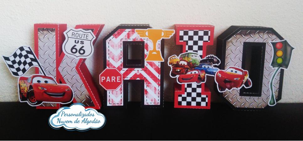 Letra 3d Carros-Letra 3d Carros  Atenção: Valor referente a unidade da letra!  Fazemos em qualquer tema. Envi