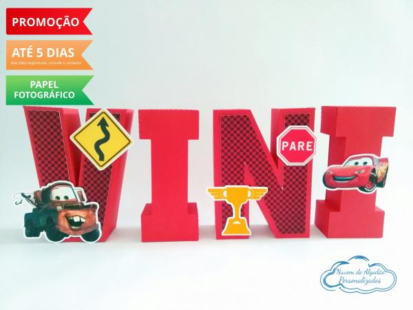 Letra 3d Carros - vermelho-Letra 3d Carros - vermelho  Atenção: Valor referente a unidade da letra!  Fazemos em qualquer