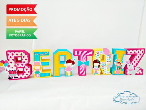 Letra 3d Circo de menina-Letra 3d Circo de menina  Atenção: Valor referente a unidade da letra!  Fazemos em qualquer te