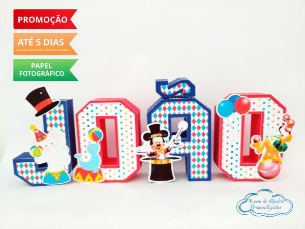 Letra 3d Circo do mickey-Letra 3d Circo do mickey  Atenção: Valor referente a unidade da letra!  Fazemos em qualquer te