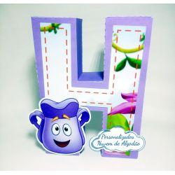 Letra 3d Dora Aventureira