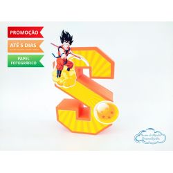 Letra 3d Dragon Ball