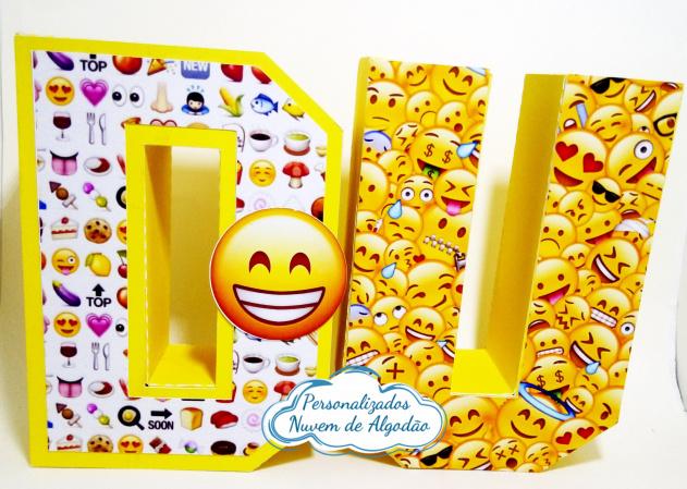 Letra 3d Emoji-Letra 3d Emoji  Atenção: Valor referente a unidade da letra!  Fazemos em qualquer tema. Envie