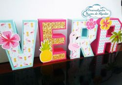Letra 3d Flamingo