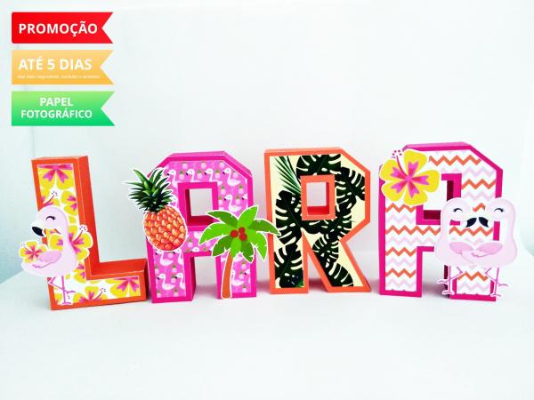 Letra 3d Flamingo tropical-Letra 3d Flamingo tropical  Atenção: Valor referente a unidade da letra!  Fazemos em qualquer