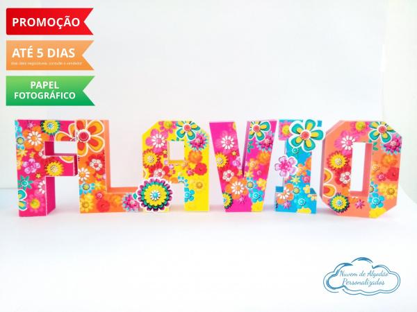 Letra 3d flores-Letra 3d flores  Atenção: Valor referente a unidade da letra!  Fazemos em qualquer tema. Envi