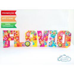 Letra 3d flores