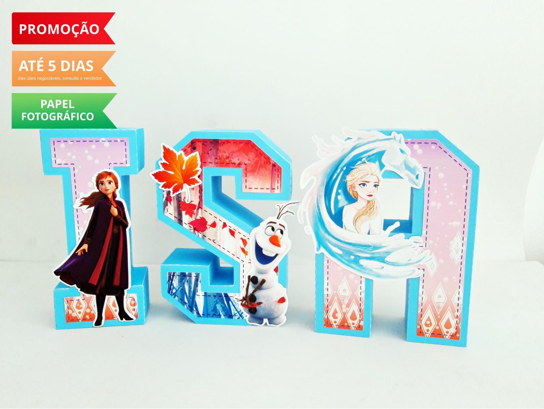 Nuvem de algodão personalizados - Letra 3d Frozen 2