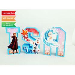 Letra 3d Frozen 2
