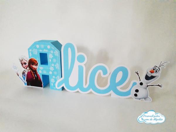 Letra 3d Frozen - Olaf-Letra 3d Frozen - Olaf Atenção: Valor referente a unidade da letra!  Fazemos em qualquer tema.