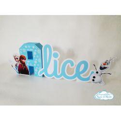 Letra 3d Frozen - Olaf