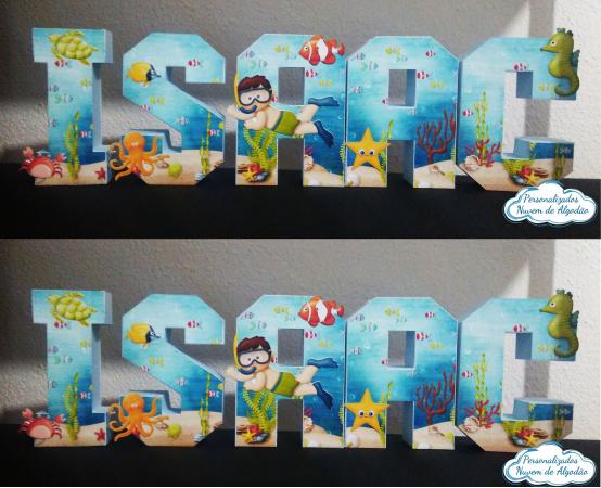 Letra 3d fundo do mar-Letra 3d fundo do mar  Atenção: Valor referente a unidade da letra!  Fazemos em qualquer tema.