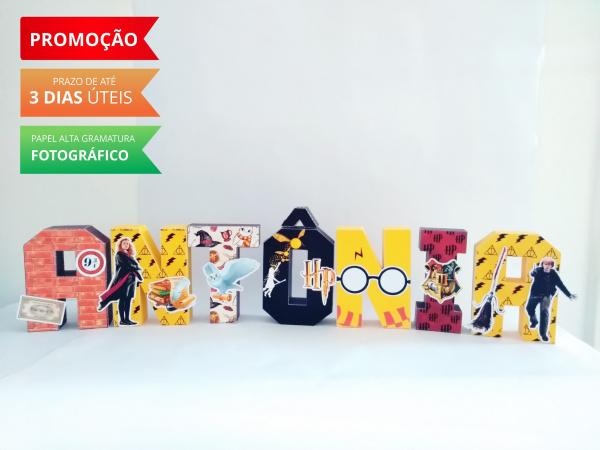 Letra 3d Harry Potter-Letra 3d Harry Potter  Atenção: Valor referente a unidade da letra!  Fazemos em qualquer tema.