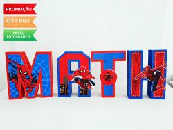 Letra 3d Homem aranha-Letra 3d Homem aranha  Atenção: Valor referente a unidade da letra!  Fazemos em qualquer tema.