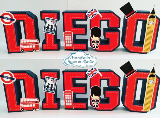 Letra 3d Londres-Letra 3d Londres  Atenção: Valor referente a unidade da letra!  Fazemos em qualquer tema. Env