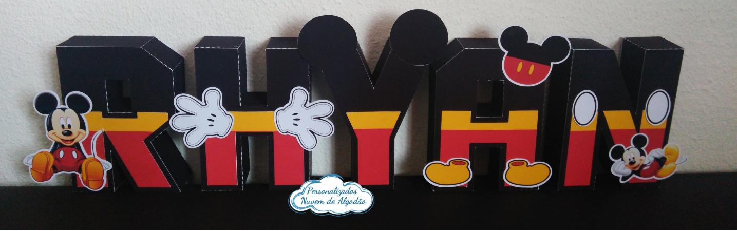 Letra 3d Mickey-Letra 3d Mickey  Atenção: Valor referente a unidade da letra!  Fazemos em qualquer tema. Envi