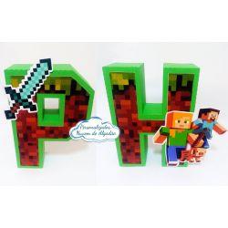 Letra 3d Minecraft