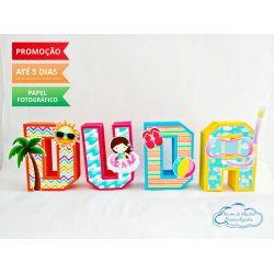 Letra 3d Pool Party - Coqueiro