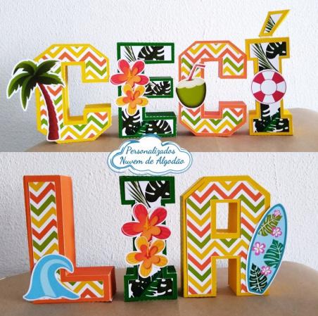 Letra 3d Pool Party - Tropical-Letra 3d Pool Party - Tropical  Atenção: Valor referente a unidade da letra!  Fazemos em qualq